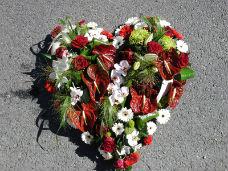 coeur rouge et blanc
